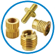 Brass moulding inserts components